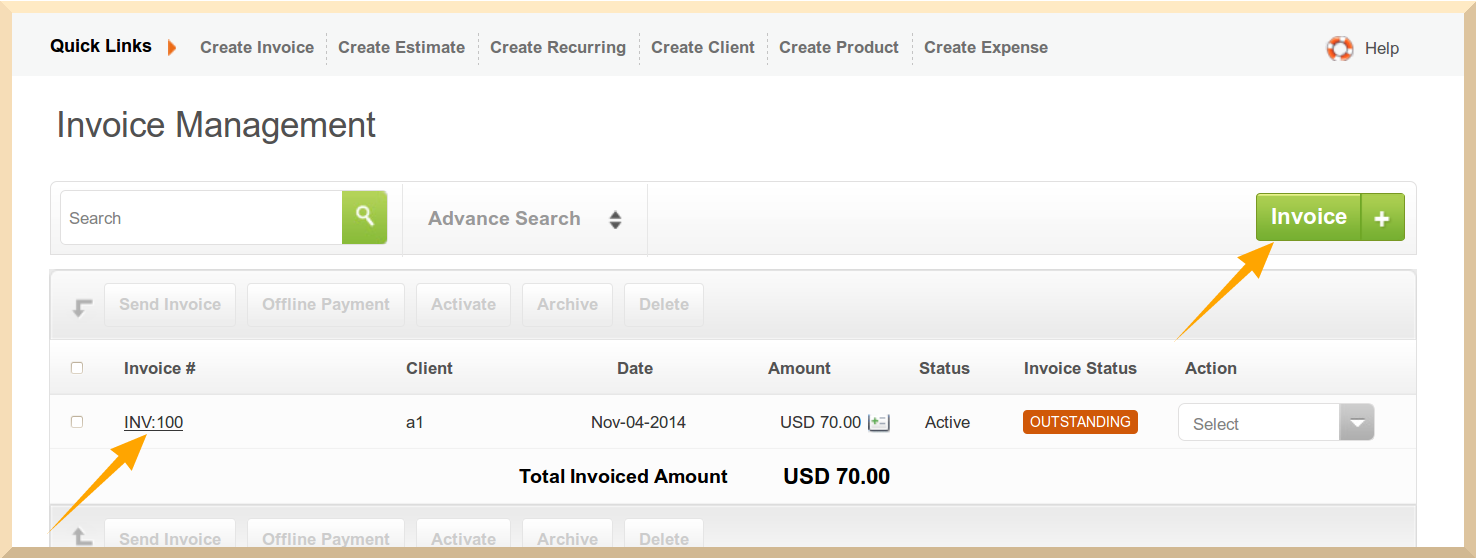 Convert your Invoice to PDF