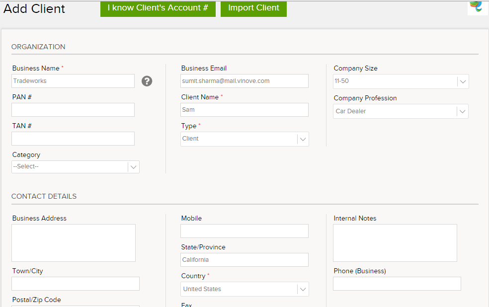 How To Send An Invoice To Multiple Contacts On Invoicera - How to send invoice to client by email