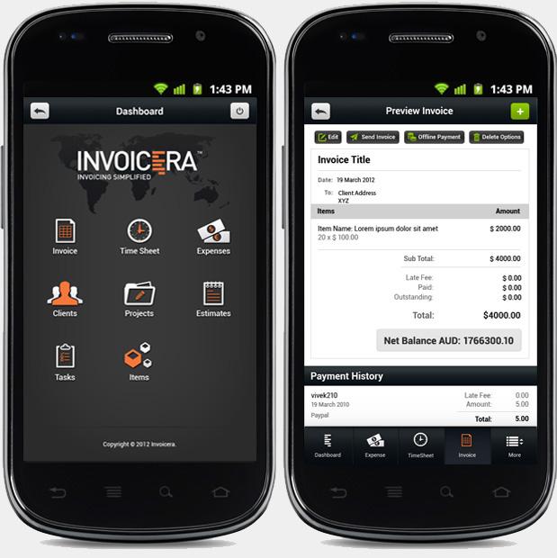 invoicera android app