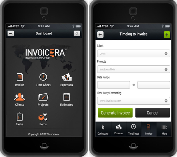 invoicera iphone app