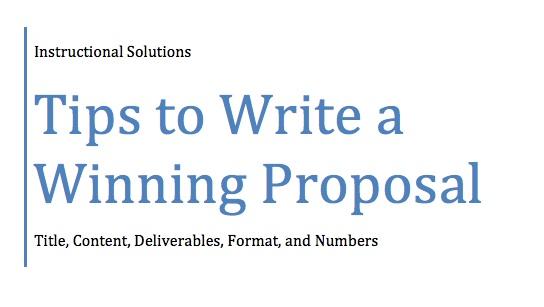 write business proposals - How To Write A Proposal