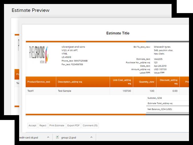 send estimates on time