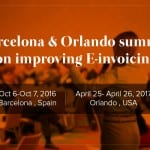 Latest event : Barcelona & Orlando summit on improving E-invoicing