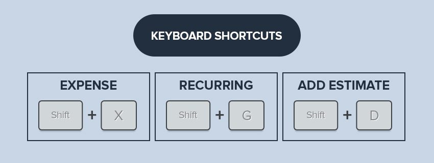 keyboard shortcut invoice