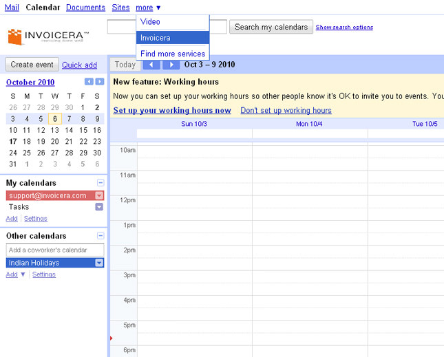 invoicera google_apps_calender