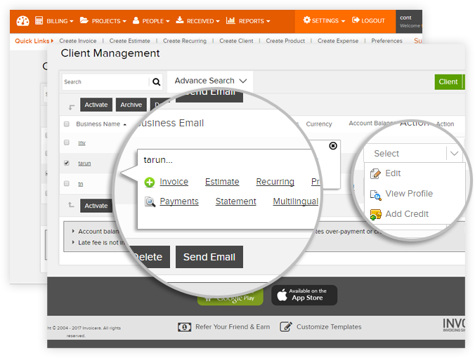 client and vendor management software