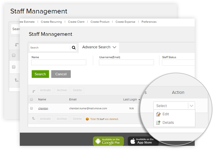 Best Online Staff Management Software For Business Owners Invoicera - Free invoice and estimate software app store online
