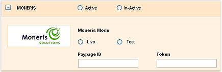 Payment for invoices through moneris