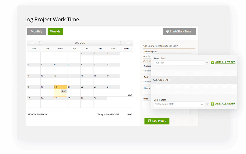 Online Time Tracking