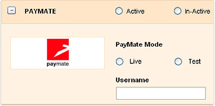 Payment for invoices through PAYMATE
