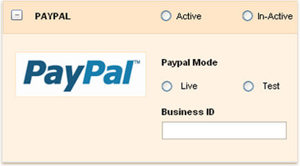 Payment for invoices through paypal