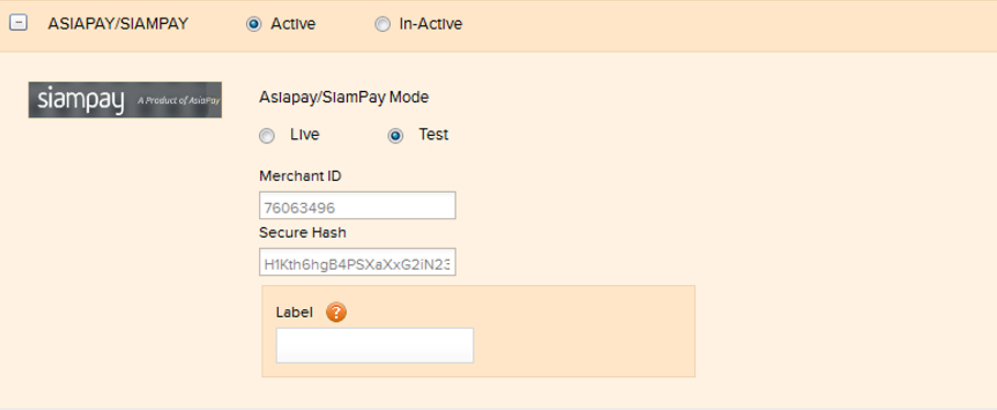 Payment for invoices through SIAMPAY